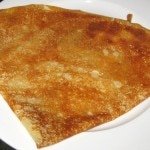 Crêpe au citron: butter, sugar and lemon