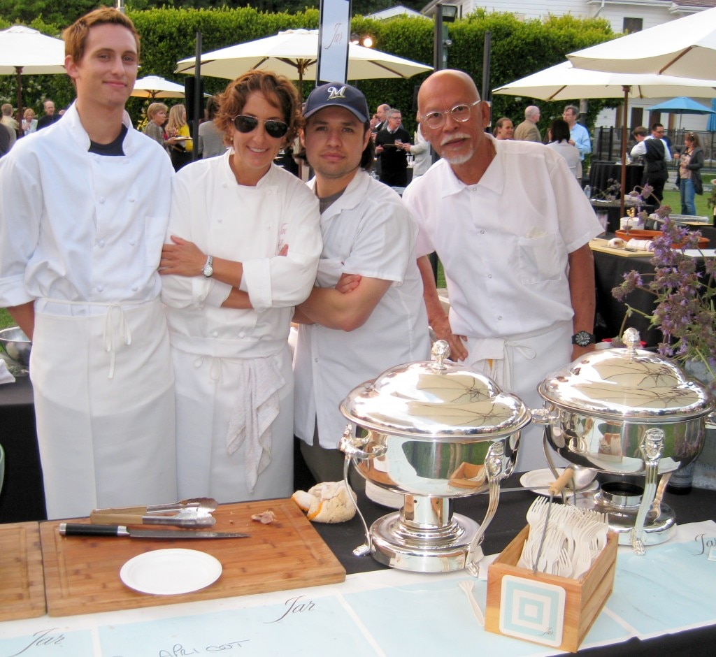 Suzanne Tracht, Preech Narkthong (right) & team - Jar restaurant Los Angeles