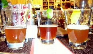 A trio of Hitachino Nest beers