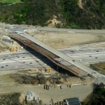 Mulholland Bridge under construction as of May 26, 2013