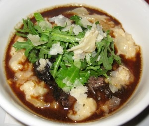 beef cheek 300x255 Braised beef cheek with risotto arborio, red wine sauce, arugula and parmesan cheese