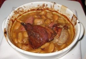 cassoulet 300x207 Perigord cassoulet with pork belly confit, Toulouse sausage and white beans
