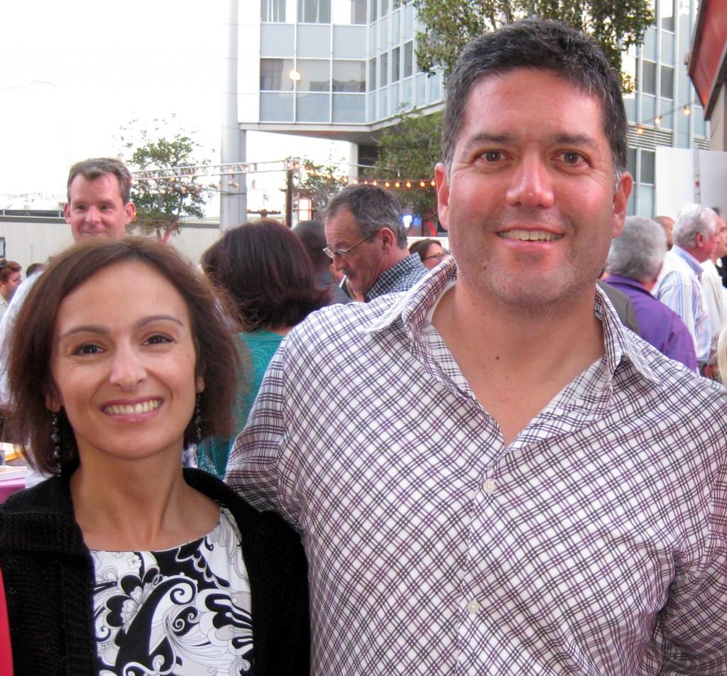 KTLA news anchor Frank Buckley with wife Elena