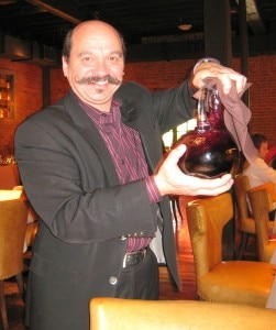 joel hoachuck 251x300 General manager Joel Hoachuck pouring 2009 Giana Zinfandel from Chiarello Family Vineyards