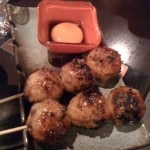 Chicken meatballs with egg yolk