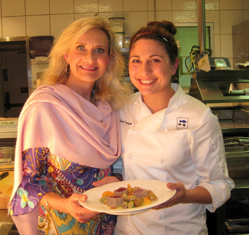 Chef Amanda Baumgarten with Sophie Gayot