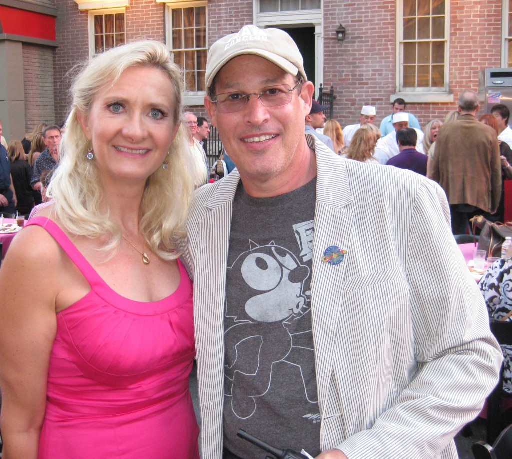 Derek Alpert, president of the Concern Foundation, with Sophie Gayot