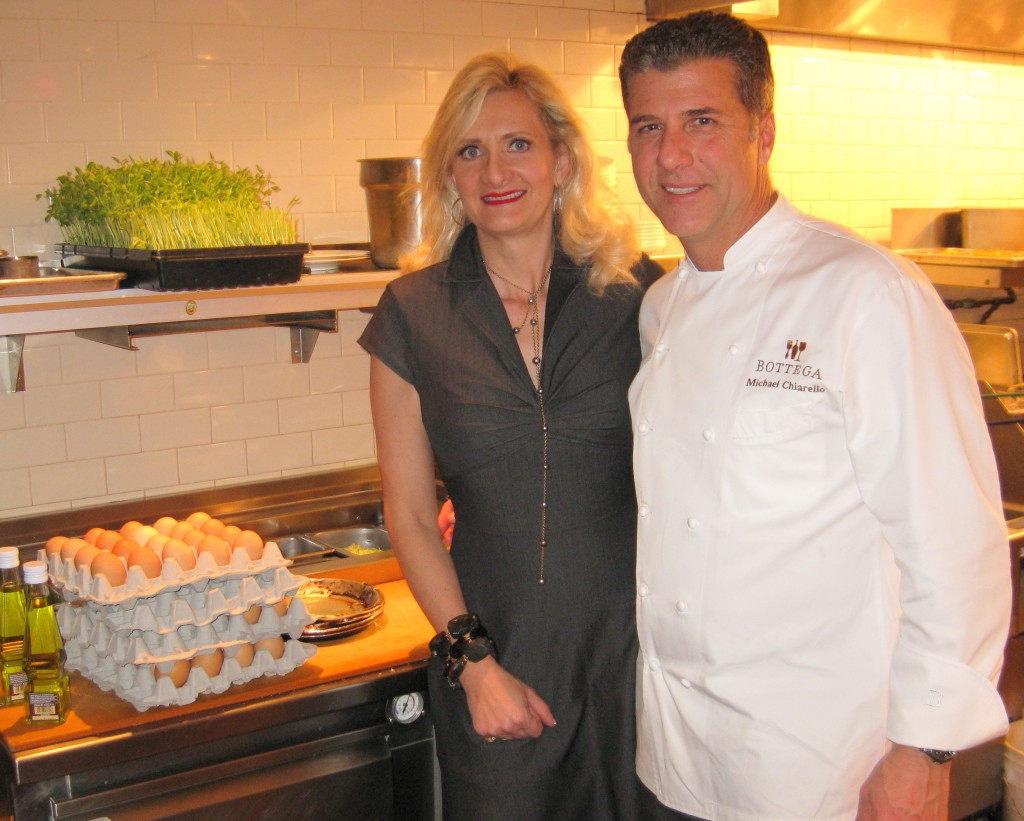 Chef Michael Chiarello with Sophie Gayot