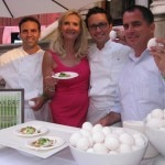 Savore Catering team: Daniel Elkins, Richard Lauther, Michael Morisette with Sophie Gayot