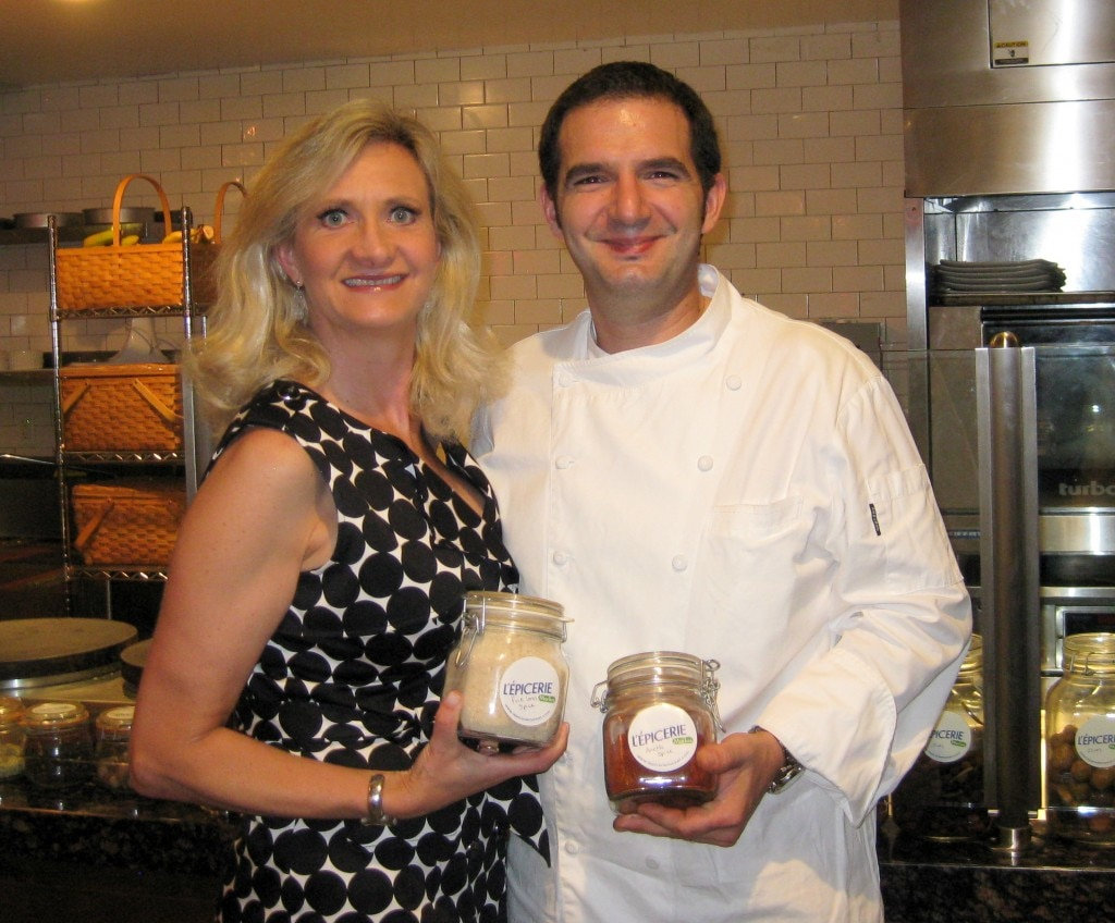 Chef/owner Sébastien Archambault with Sophie Gayot