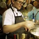 Chef Finkelstein preparing bannock bread