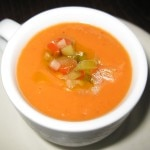 Sopa de gazpacho: chilled heirloom tomato soup