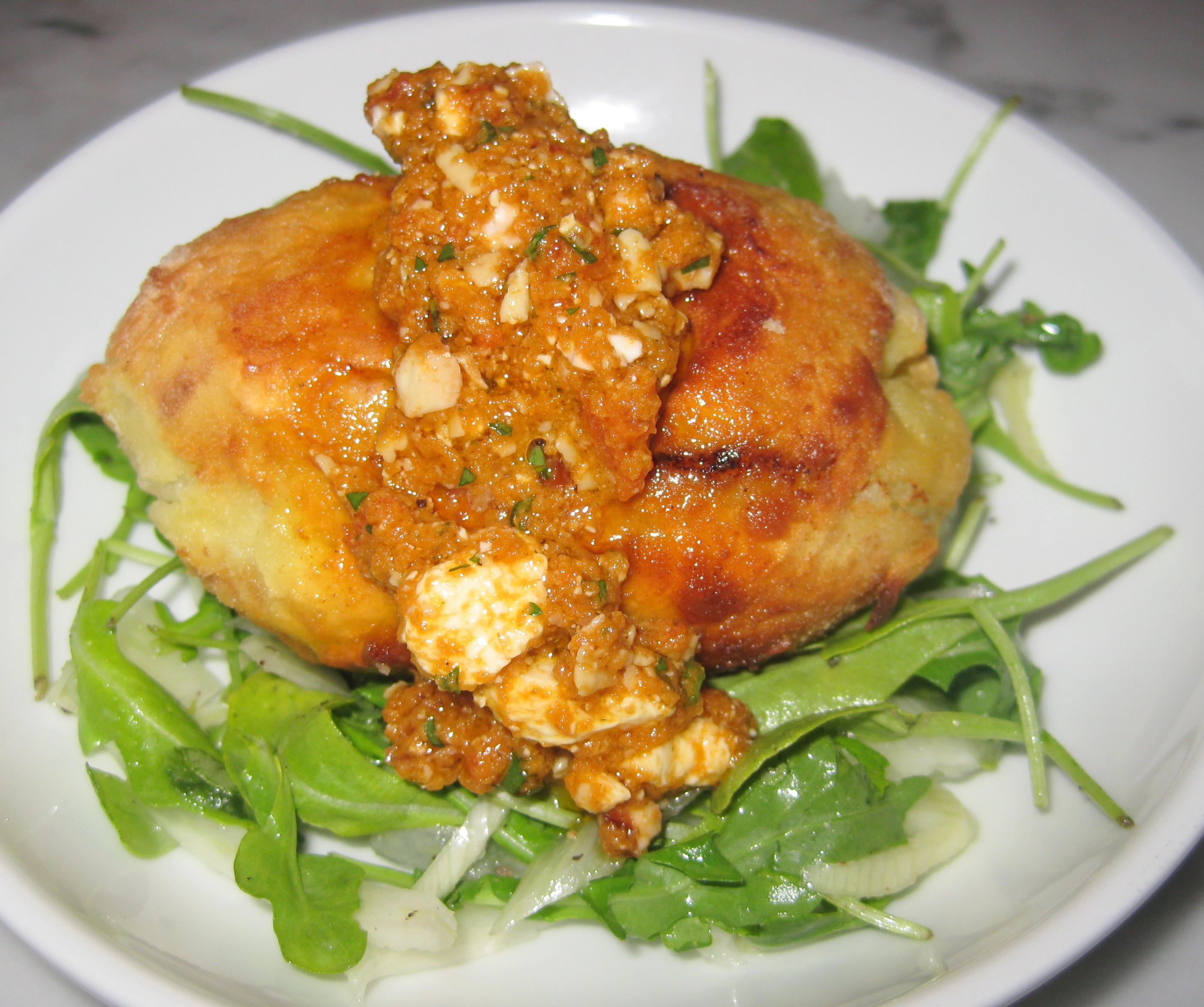 Papa rellena: stuffed potato, slow-cooked beef, boiled egg ...
