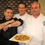 Team 3 - Ryan Maguire presenting his tarte with Matthieu Chamussy & Alexandre Derenne