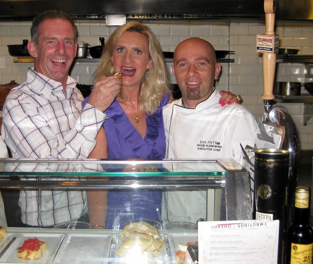 Chefs Joe Miller & David Plonowski with Sophie Gayot