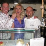 Chefs Joe Miller & David Plonowski with Sophie Gayot