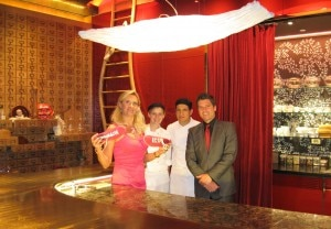 From left to right: Sophie Gayot, pastry chef Quentin Welch, sous chef Mario Medina, Lucas Paya