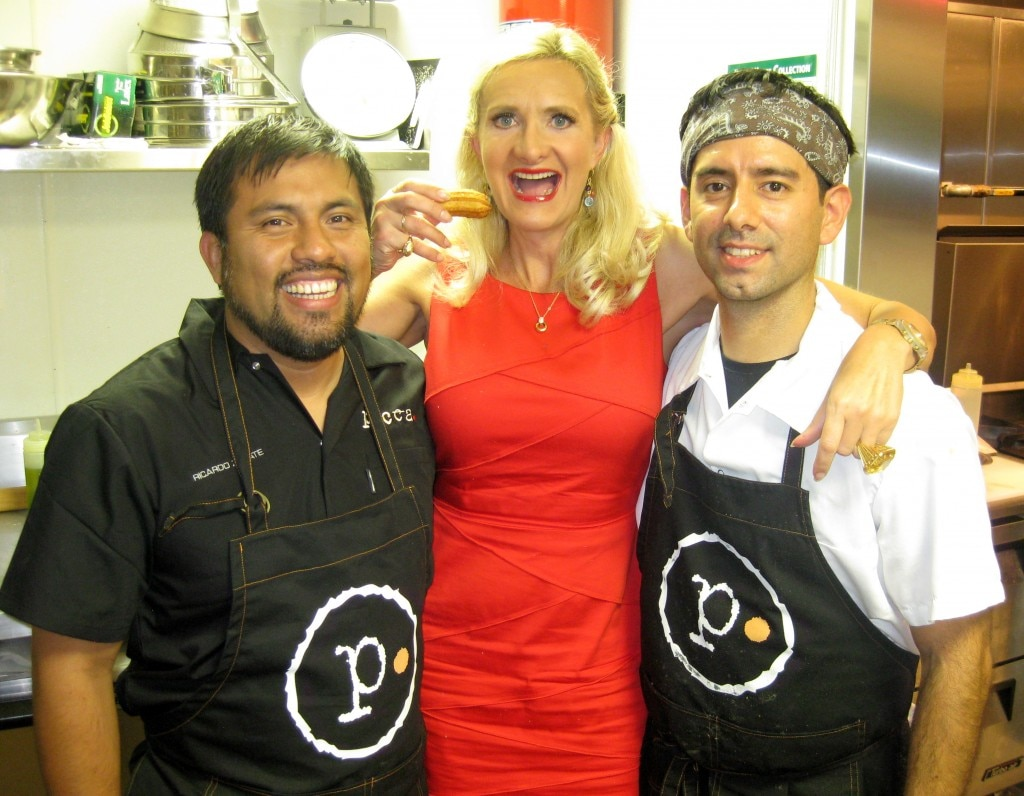 Chefs Ricardo Zarate & Marco Olechea with Sophie Gayot