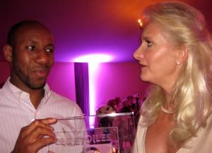 Proud 2011 Les Espoirs de Mougins winner Francis Ogé with Sophie Gayot