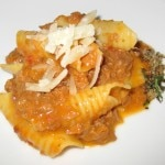 Garganelli with Bolognese sauce