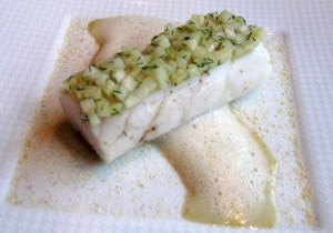 loup de mer 300x210 Loup de mer served with fennel confit and a juice infused with wild anise
