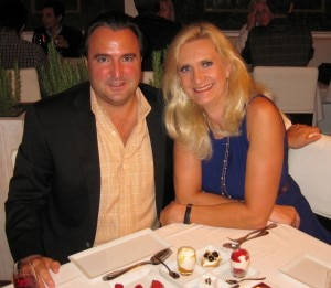 Laurent Halasz, president of Fig & Olive restaurants, with Sophie Gayot