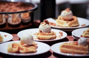 Bacon-in-the-batter waffles