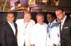 Mayor Antonio Villaraigosa, Robert Weakley, Wolfgang Puck, Randy Jackson, David Bernahl