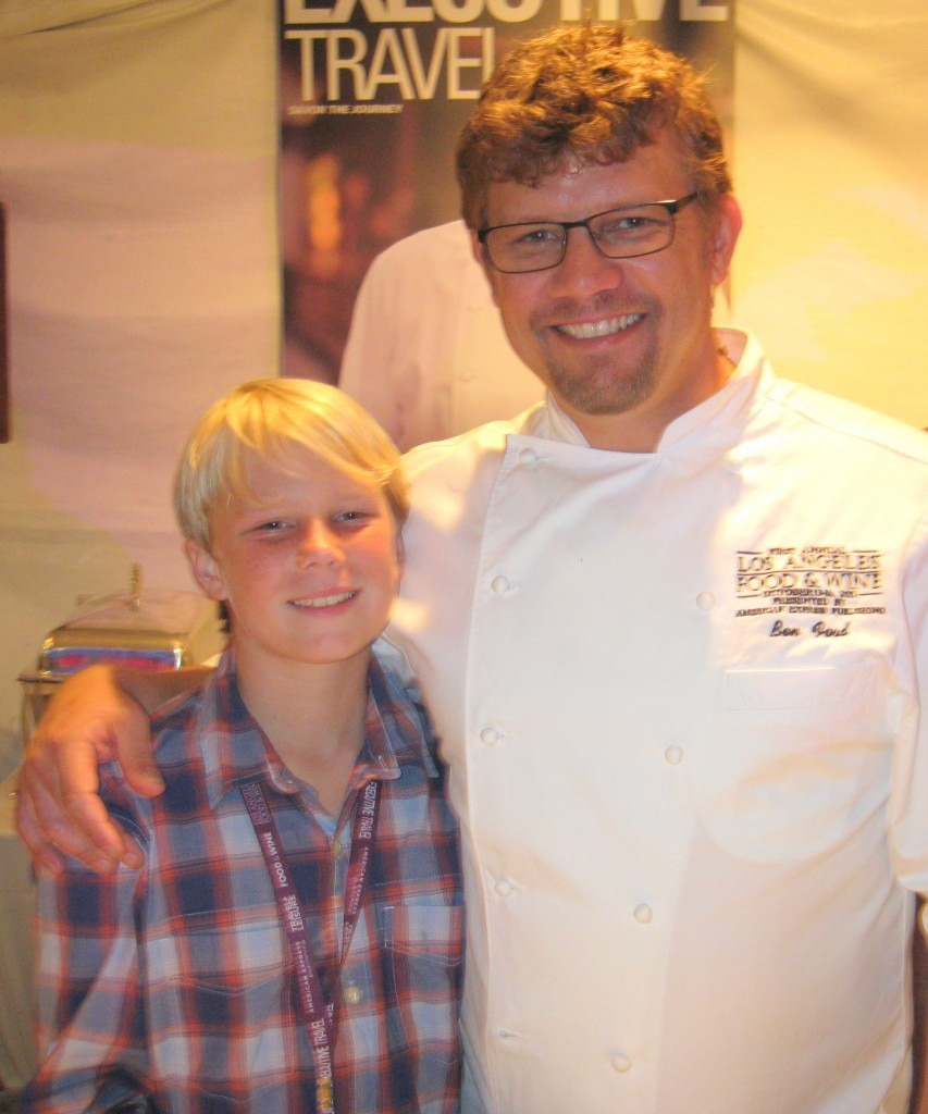 Ben Ford with his son Ethan (Ford's Filling Station)