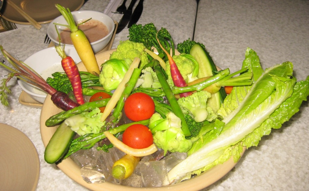 Local vegetable crudités
