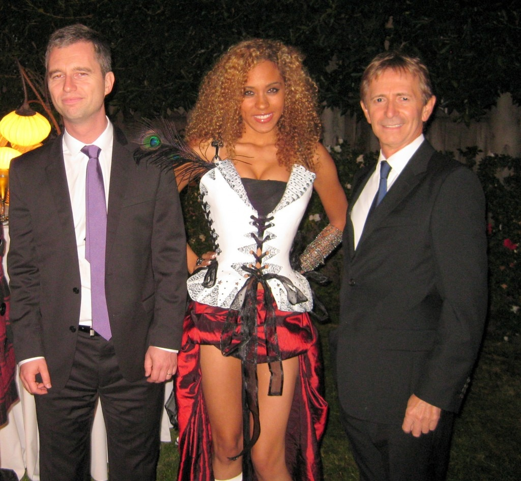 Consul Général of France David Martinon, singer Zhavea, Dr. Eric Fugier