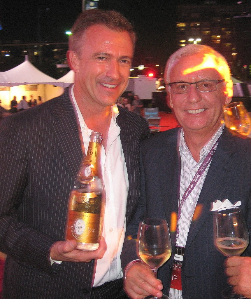 Dirk Smits & Gregory Balogh, from Maison Marques & Domaines, serving 2004 Cristal