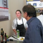 Chef Raymond Blanc checking on Jessica Largey