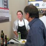Chef Raymond Blanc checking on Jessica Largey
