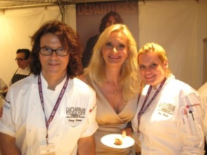 Kerry Simon & Nona Sivley (SIMON L.A.) with Sophie Gayot