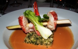 lobster curry 300x188 Atlantic lobster in red curry with taboulé of green apples by chef Vincent Masson