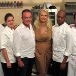 The five contestants before the competition. From left to right: Nelson Da Silva, Jessica Largey (Manresa), Richard Galy (Mayor of Mougins), Sophie Gayot, Francis Ogé, Filipo Fiorentini, Olivier Jean