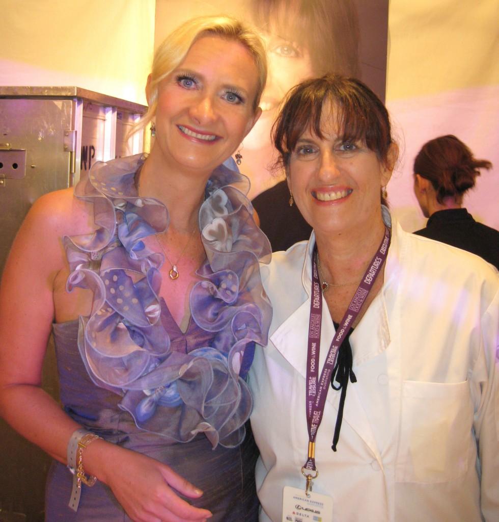 Akasha Richmond (Akasha) with Sophie Gayot