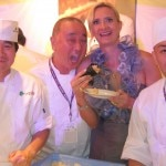 Nobu Matsuhisa, his chefs & Sophie Gayot