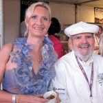 Paul Prudhomme (K-Paul Louisiana Kitchen) with Sophie Gayot