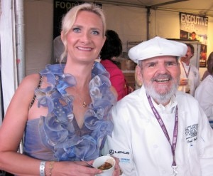 sophie gayot paul prudhomme 300x247 Paul Prudhomme (K Paul Louisiana Kitchen) with Sophie Gayot