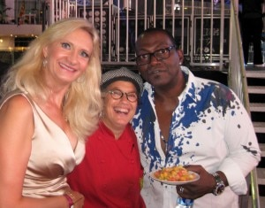 Susan Feniger came backstage to feed hungry Randy Jackson