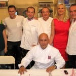 The jury before the competition: Christelle Brua, Christopher Hache, Sébastien Chambru, Frédéric Anton (in the front), Serge Gouloumès, Sophie Gayot, Richard Galy