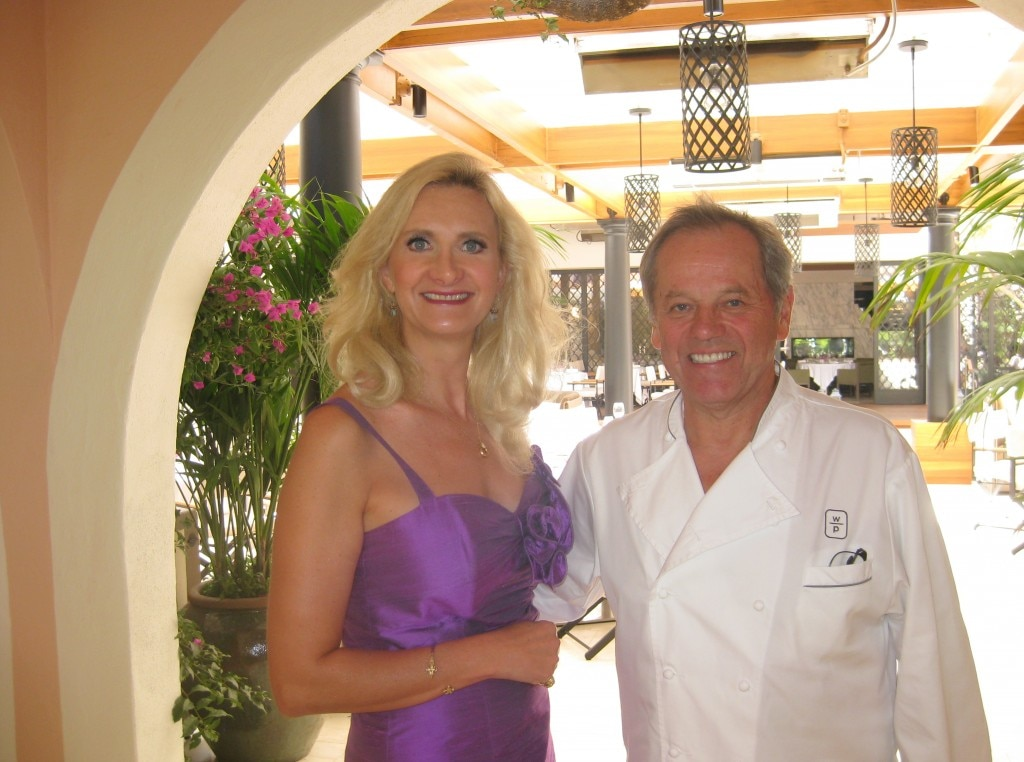 Wolfgang Puck with Sophie Gayot