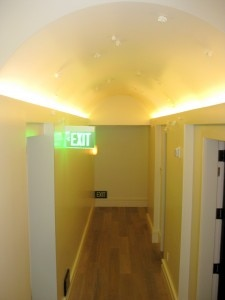 La Prairie spa hallway