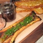 Bone marrow with oxtail marmalade and fettunta