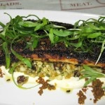 Branzino with curried cauliflower, yogurt and cilantro