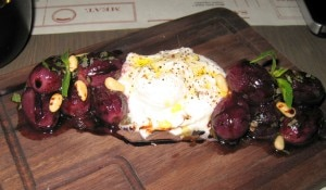 burrata roasted grapes 300x175 Burrata and roasted grapes with brown butter, rosemary and pine nuts