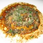 Raviolo with potato, ricotta and egg