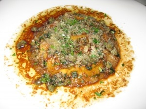 raviolo 300x225 Raviolo with potato, ricotta and egg